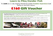 Gift Voucher - Learn to Predator Fish- £160 v2.2