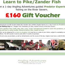 Gift Voucher - Learn to Predator Fish- £160 v2.2