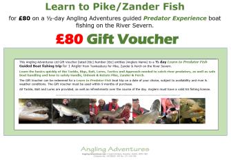 Gift Voucher - Learn to Predator Fish- £80 v2.2