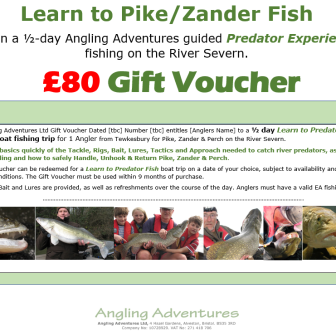 Gift Voucher - Learn to Predator Fish- £80 v2.2